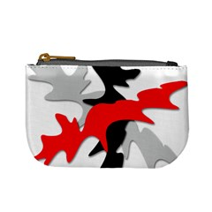 Gray, red and black shape Mini Coin Purses