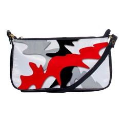 Gray, red and black shape Shoulder Clutch Bags