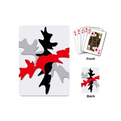 Gray, red and black shape Playing Cards (Mini)
