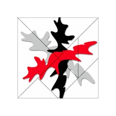 Gray, red and black shape Acrylic Tangram Puzzle (4  x 4 )