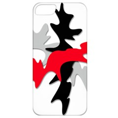 Gray, red and black shape Apple iPhone 5 Classic Hardshell Case