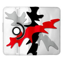 Gray, red and black shape Samsung Galaxy Note II Flip 360 Case