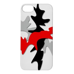 Gray, red and black shape Apple iPhone 5S/ SE Hardshell Case