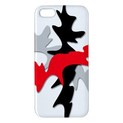 Gray, red and black shape iPhone 5S/ SE Premium Hardshell Case