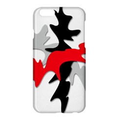 Gray, red and black shape Apple iPhone 6 Plus/6S Plus Hardshell Case