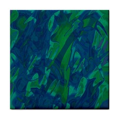 Green and blue design Tile Coasters