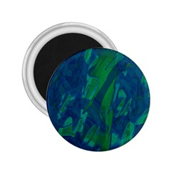 Green and blue design 2.25  Magnets