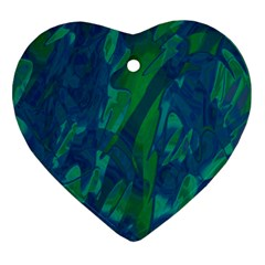 Green and blue design Ornament (Heart)