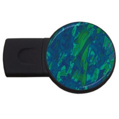 Green and blue design USB Flash Drive Round (1 GB)