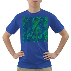 Green and blue design Dark T-Shirt