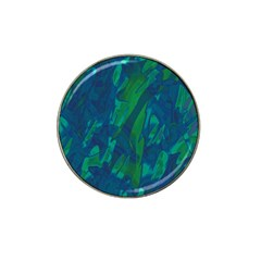 Green and blue design Hat Clip Ball Marker (4 pack)