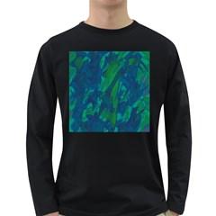 Green and blue design Long Sleeve Dark T-Shirts