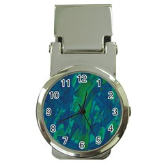 Green and blue design Money Clip Watches
