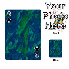 Green and blue design Playing Cards 54 Designs