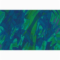 Green and blue design Collage Prints