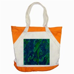 Green and blue design Accent Tote Bag