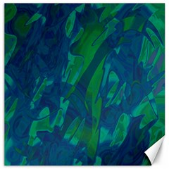 Green and blue design Canvas 12  x 12