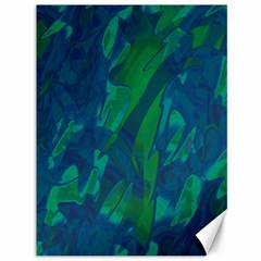 Green and blue design Canvas 36  x 48