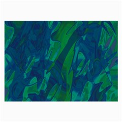 Green and blue design Large Glasses Cloth (2-Side)