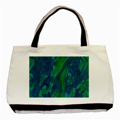 Green and blue design Basic Tote Bag (Two Sides)