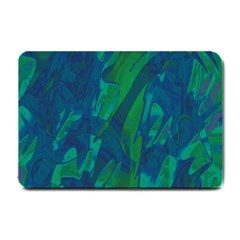 Green and blue design Small Doormat