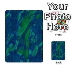 Green and blue design Multi-purpose Cards (Rectangle)