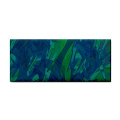 Green and blue design Hand Towel