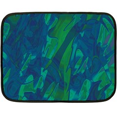 Green and blue design Double Sided Fleece Blanket (Mini)