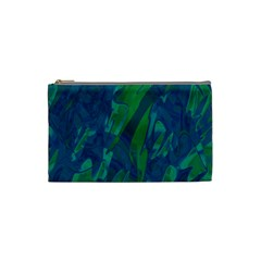 Green and blue design Cosmetic Bag (Small)
