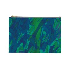 Green and blue design Cosmetic Bag (Large)