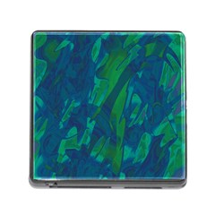 Green and blue design Memory Card Reader (Square)