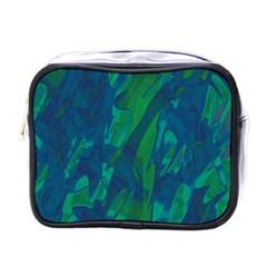 Green and blue design Mini Toiletries Bags