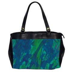 Green and blue design Office Handbags (2 Sides)