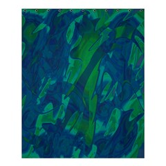 Green and blue design Shower Curtain 60  x 72  (Medium)