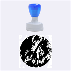 Green and blue design Rubber Round Stamps (Medium)