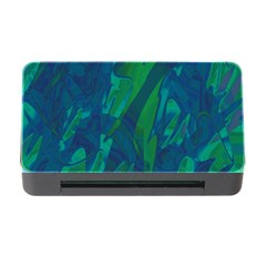 Green and blue design Memory Card Reader with CF