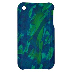 Green and blue design Apple iPhone 3G/3GS Hardshell Case