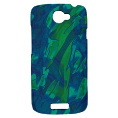 Green and blue design HTC One S Hardshell Case