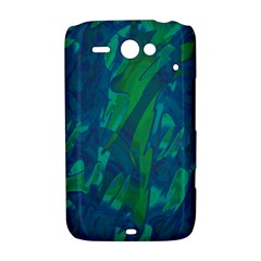 Green and blue design HTC ChaCha / HTC Status Hardshell Case