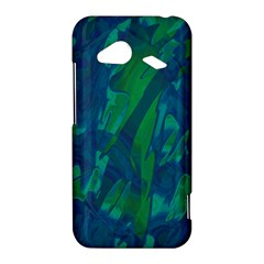 Green and blue design HTC Droid Incredible 4G LTE Hardshell Case