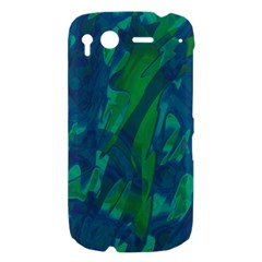 Green and blue design HTC Desire S Hardshell Case