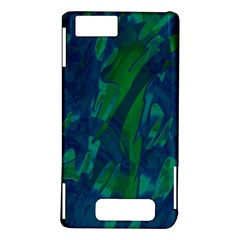 Green and blue design Motorola DROID X2