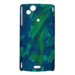Green and blue design Sony Xperia Arc