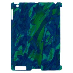 Green and blue design Apple iPad 2 Hardshell Case (Compatible with Smart Cover)