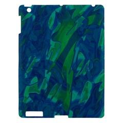 Green and blue design Apple iPad 3/4 Hardshell Case