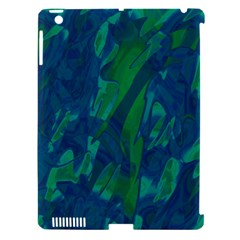Green and blue design Apple iPad 3/4 Hardshell Case (Compatible with Smart Cover)