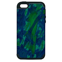Green and blue design Apple iPhone 5 Hardshell Case (PC+Silicone)