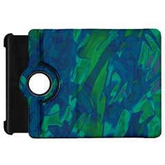 Green and blue design Kindle Fire HD Flip 360 Case