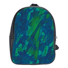 Green and blue design School Bags (XL)