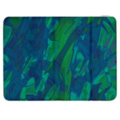Green and blue design Samsung Galaxy Tab 7  P1000 Flip Case